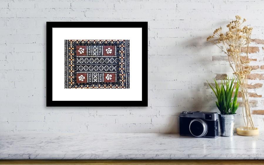 Fiji Tapa Cloth Framed Print by Cindi Alvarado