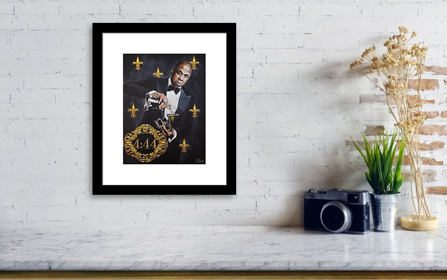 Jay-z 444 Grammy Award Portrait Original Acrylic Painting Framed ...