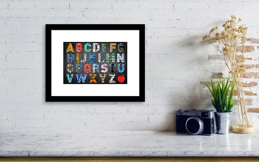Letters Of The Alphabet Recycled Vintage License Plate Art With ...