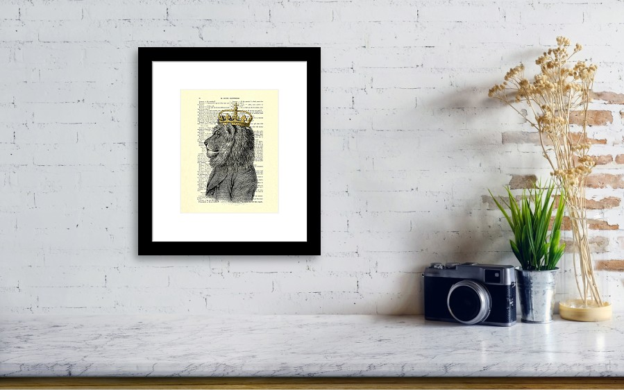 Lion King Framed Print by Madame Memento
