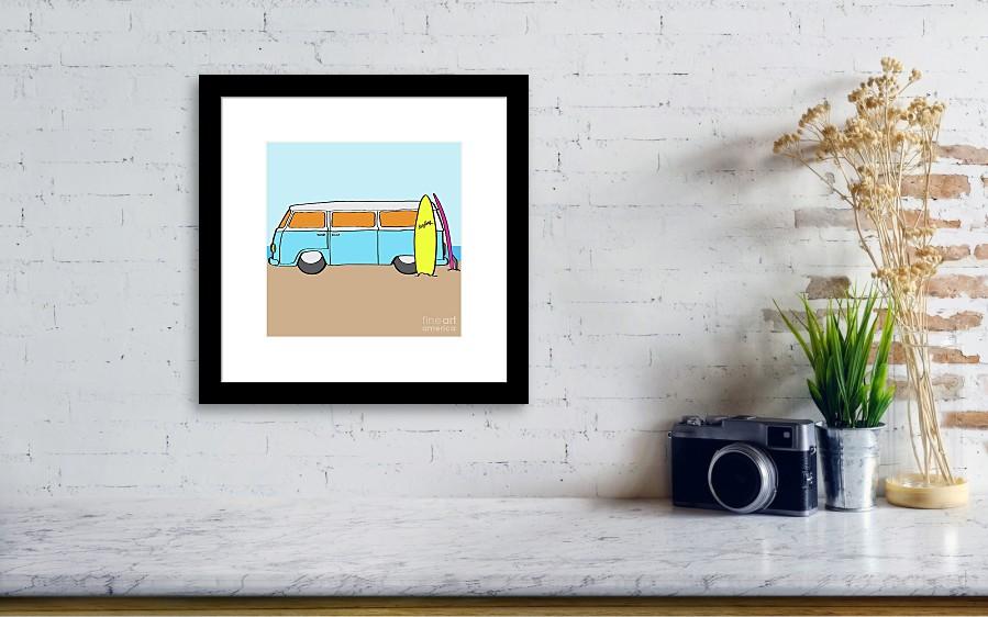 Surfing Australia Vw Kombi Van Framed Print by Jorgo Photography ...