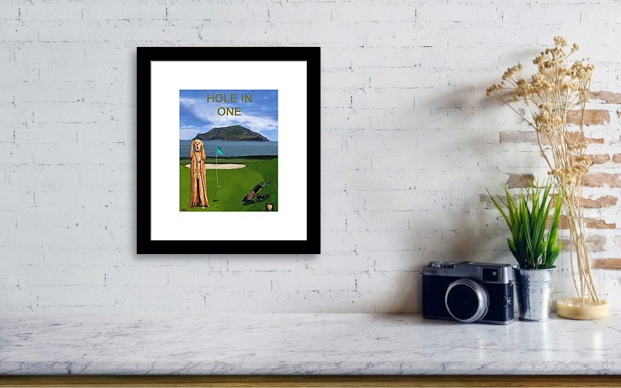 The Scream World Tour Golf Hole In One Framed Print by Eric Kempson