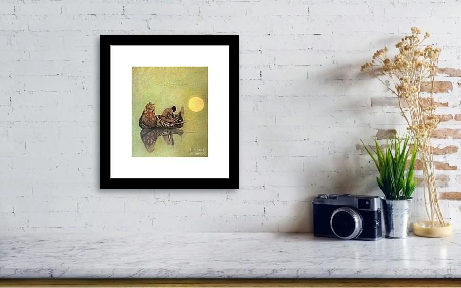 The Silent Fisherman Framed Print by N C Wyeth