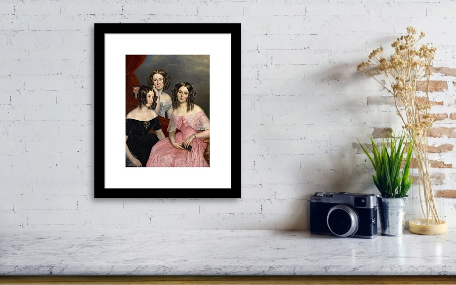 The Three Robinson Sisters Framed Print