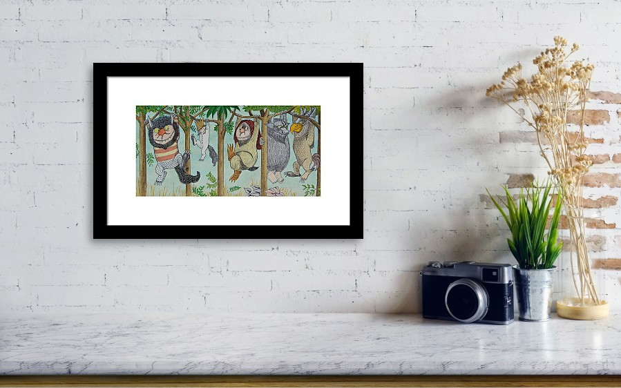 Where The Wild Things Are Framed Print by Mr Minor