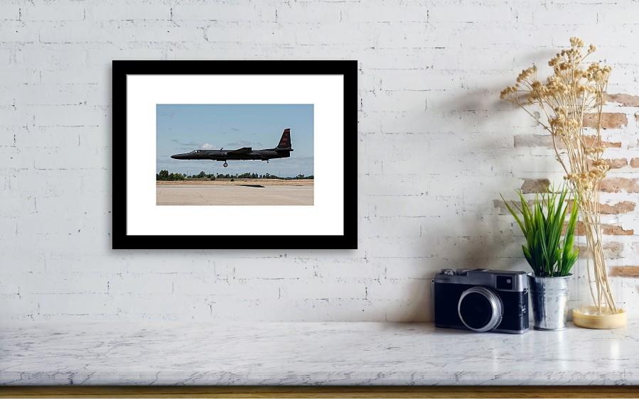 a us air force u2s landing at beale framed print