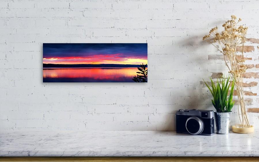 Sunrise In Cayuga Lake Ithaca New York Panoramic Photography Metal ...