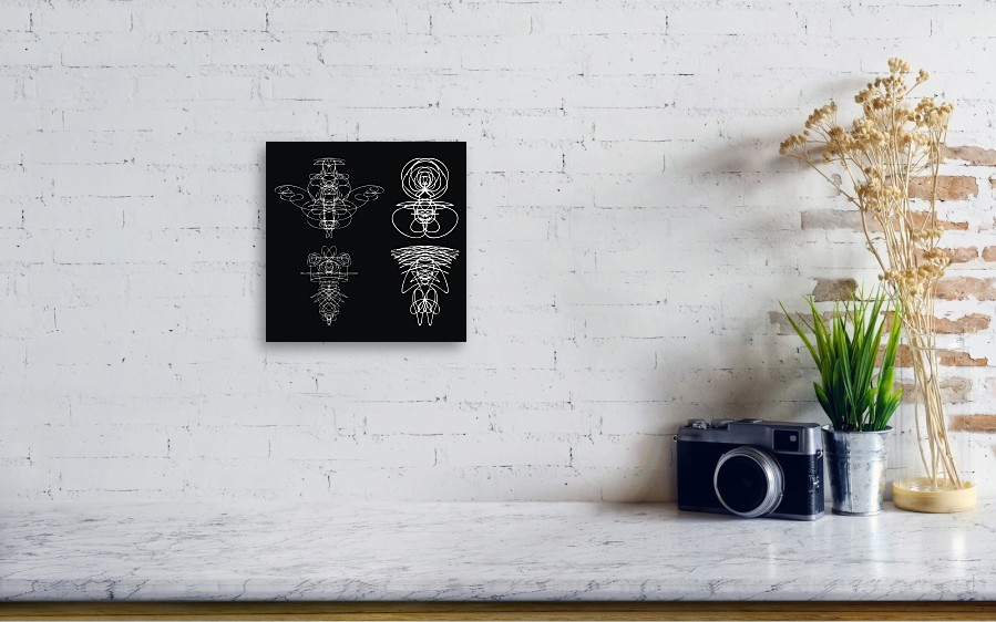Voodoo Spirits Symmetrical Symbols Set  Abstract Geometric Hand Drawn  Spiritual Black Magic Craft Insignia Voodoo Deity  Occultism, Sacred  Geometry
