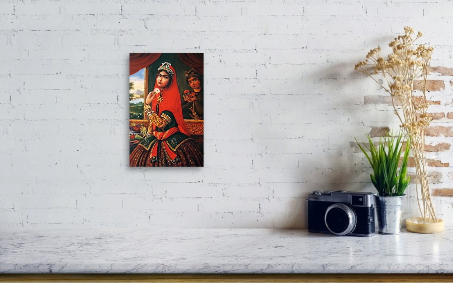 Persian Miniature Oil Painting DR31 Greeting Card for Sale