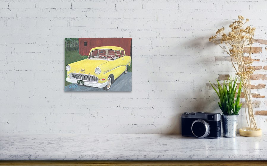 1960 Opel Rekord Poster by Cliff Wilson