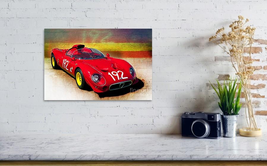 1967 Alfa Romeo Tipo 33 2 Periscopica Spyder Poster By Stuart Row