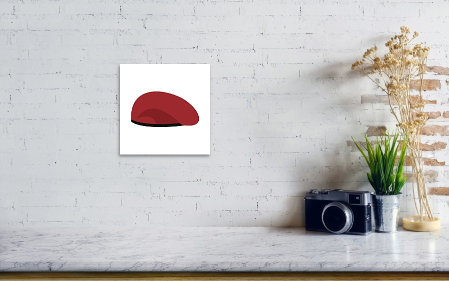 ed523fa1710 Beret Military Red. Soldiers Cap. Army Hat. War Barret Art Print by ...