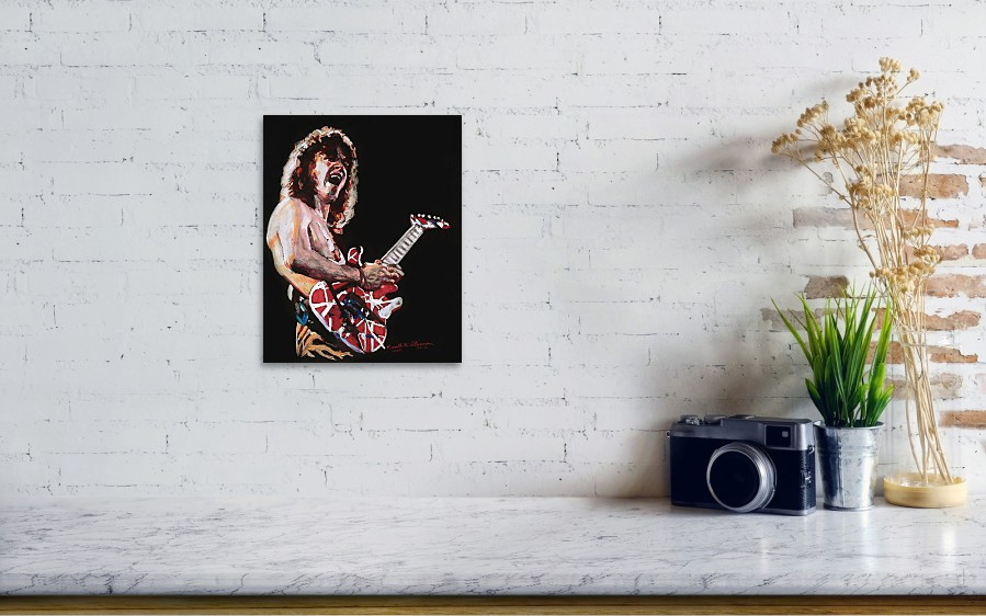 08de7410ffa Eddie Poster featuring the drawing Eddie Van Halen by Kenneth Williams.  Wall View 001