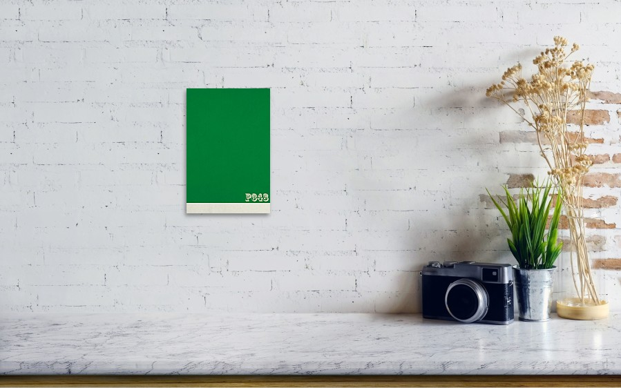 Pantone 348 Forest Green Color On Worn Canvas Art Print