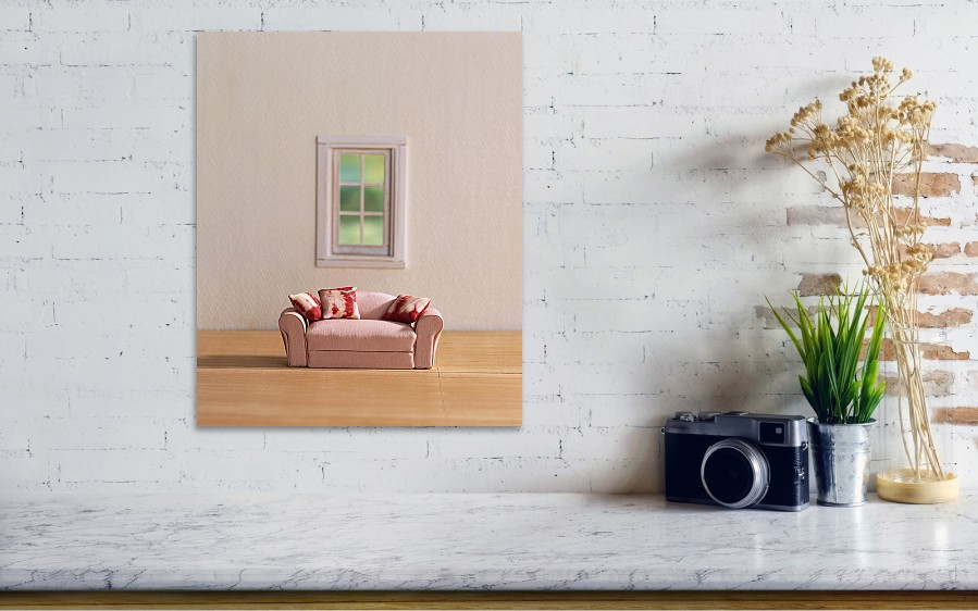Sofa Near Window Art Print By Yaske