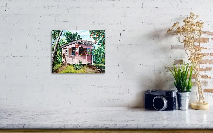 Painting Trini Roti Shop By Karin Dawn Kelshall Best Wall View 001