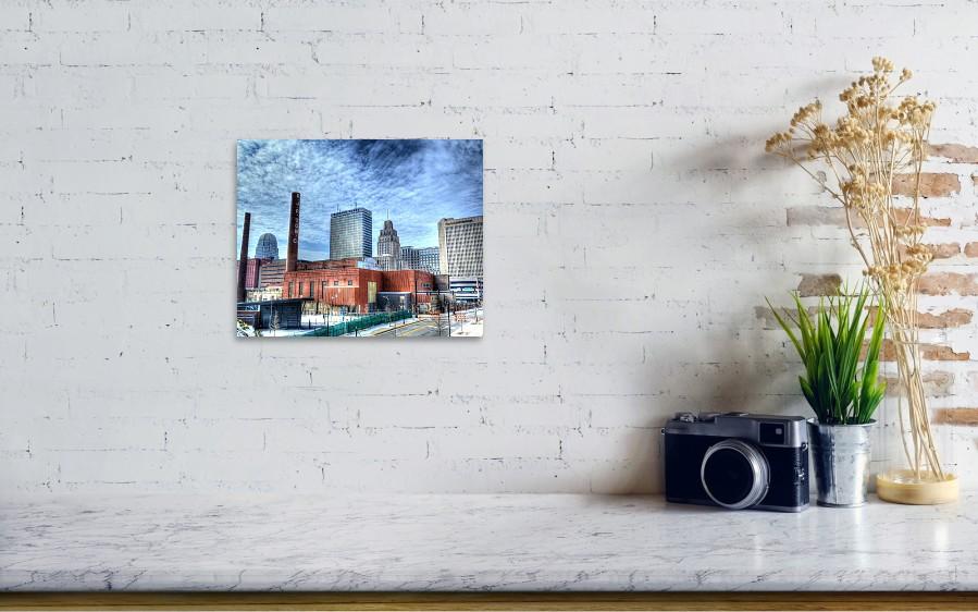 Winston Salem Nc Skyline Poster by Keith Hall