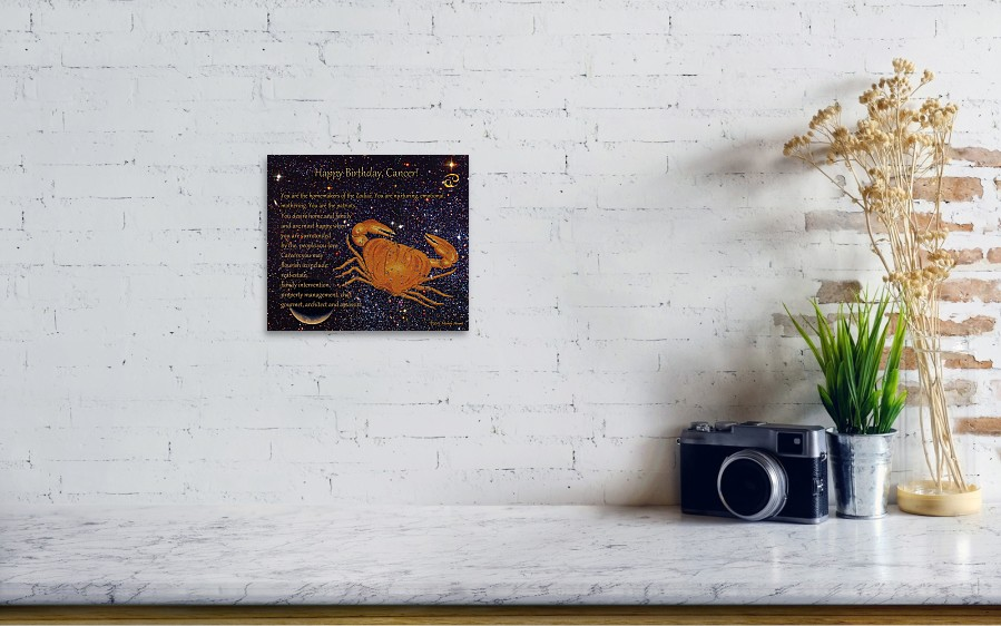 fe94007ebea ... featuring the mixed media Cancer Birthday Zodiac Astrology by Michele  Avanti. Wall View 001