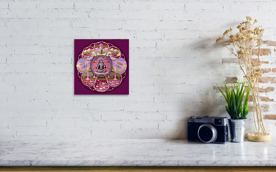 Painting Goddess Tara Mandala By Svahha Devi Wall View 001