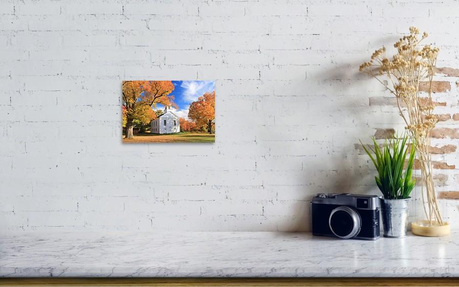Historic New England Meetinghouse And Fall Foliage Ware Massachusetts Art Print
