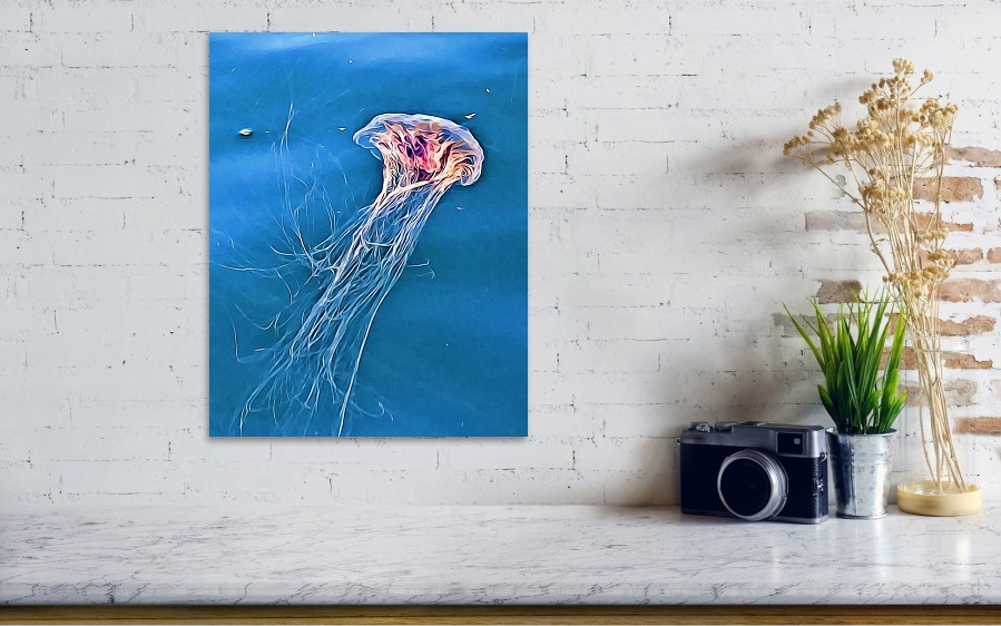 Jellyfish wall art print by Tatiana Travelways