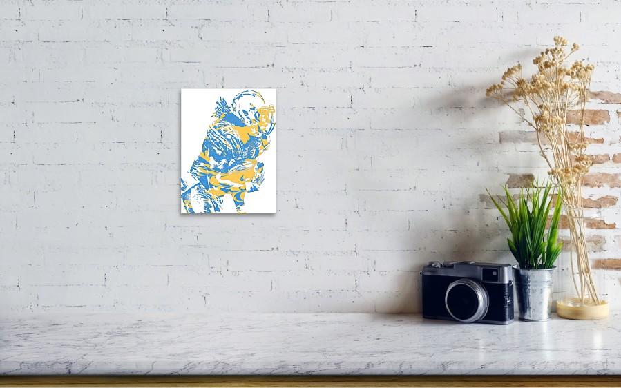 Melvin Gordon Los Angeles Chargers Pixel Art 13 Art Print by Joe ... 040b7579b