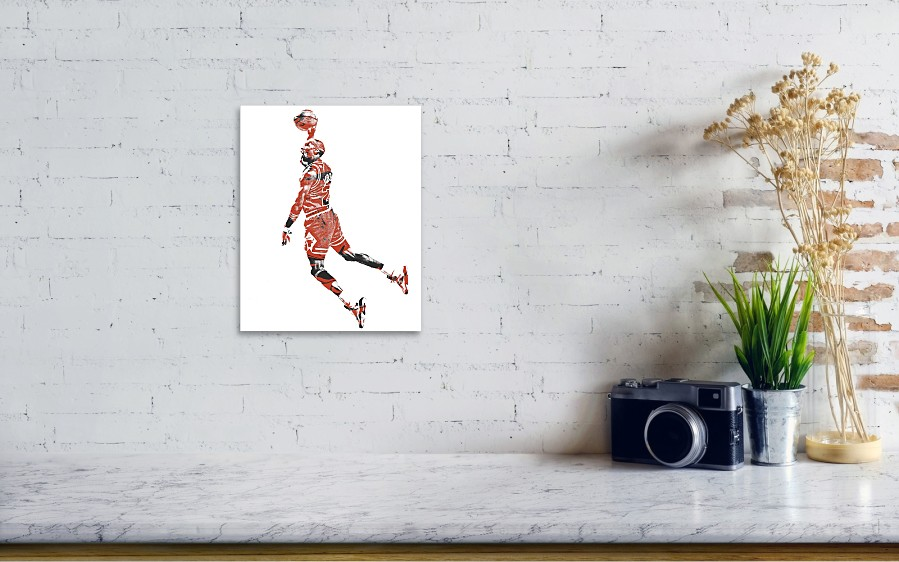 207b2f765b3 Michael Jordan Chicago Bulls Pixel Art 11 Poster by Joe Hamilton