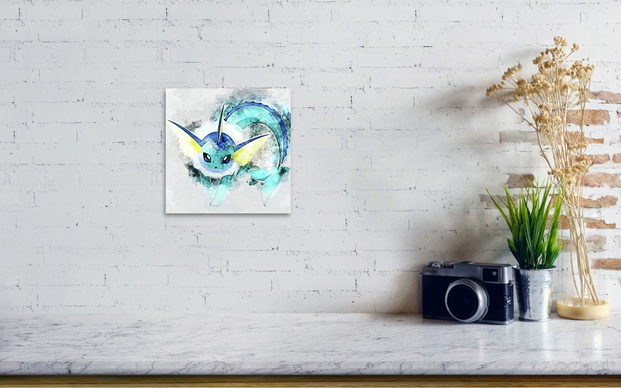 64217df0 ... Pokemon Vaporeon Abstract Portrait - By Diana Van by Diana Van. Wall  View 001