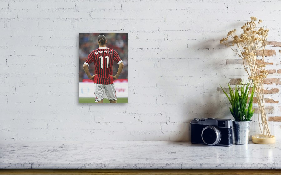 203438fc21c Zlatan Ibrahimovic Wood Print featuring the photograph Ac Milan V Genoa Cfc  - Serie A by. Wall View 001