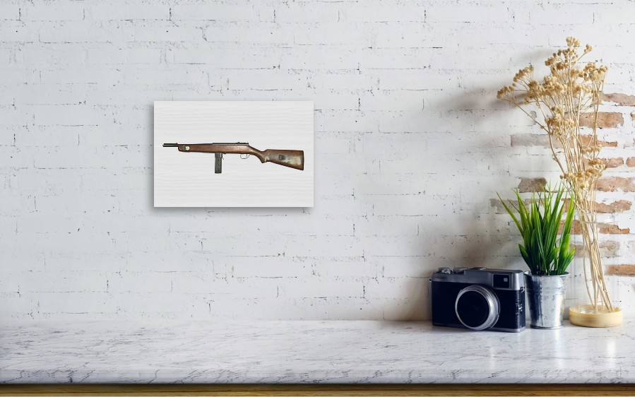 Reising M50 Submachine Gun Wood Print