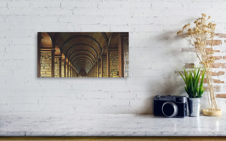 Thomas Burgh Library Trinity College Wood Print By The Irish Image