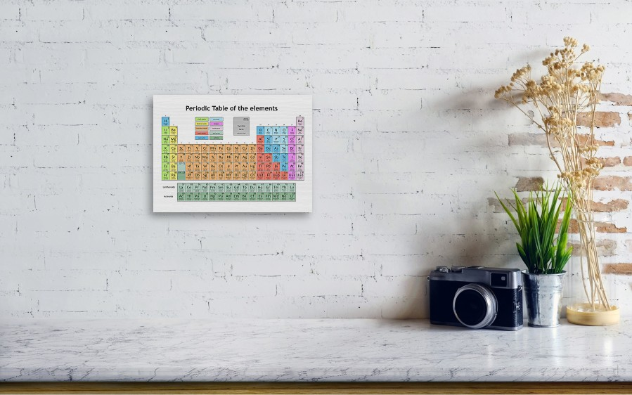 Periodic Table Of The Elements 5 Wood Print