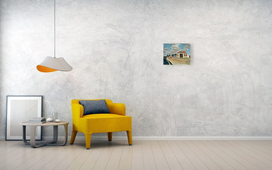 Wall View 002 & The Chair Factory At Alfortville Canvas Print / Canvas Art by Henri ...