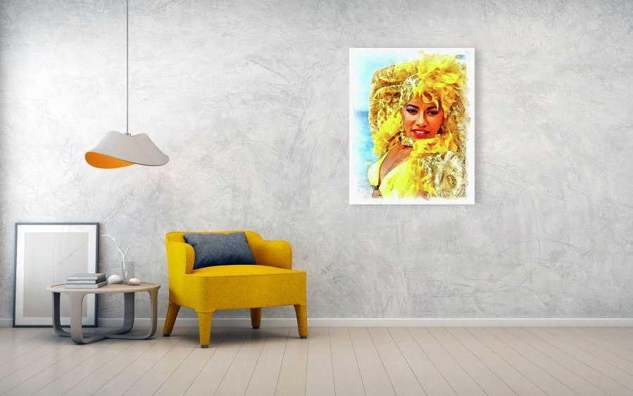 Beauty in Yellow - Dancer from Playa Ancón, Cuba