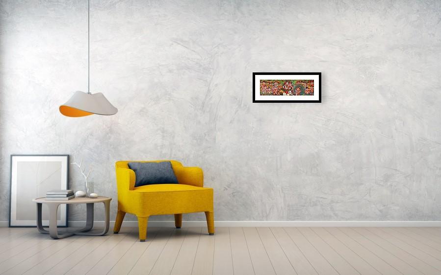 Ganesha Murugan Krishnan And Radha Mural Painting Framed Print