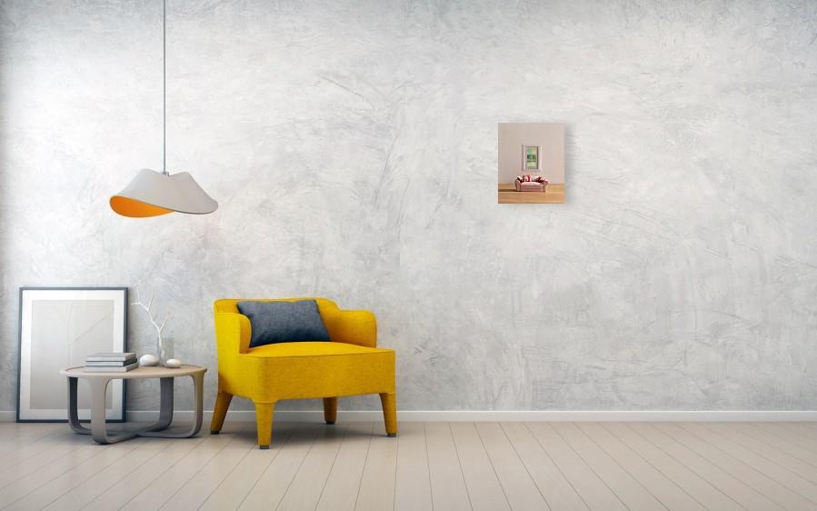 Sofa Near Window Metal Print By Yaske