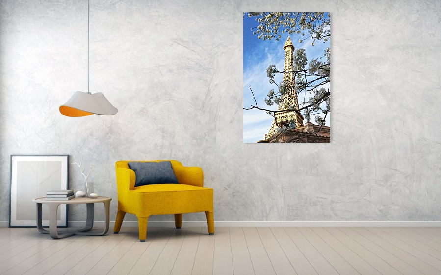 Eiffel Tower Paris Las Vegas art print by Tatiana Travelways.