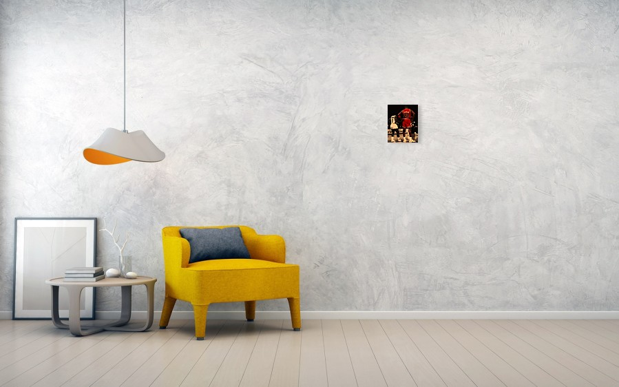 Michael Jordan Poster featuring the digital art Air Jordan And Muggsy Bogues  by Brian Reaves. Wall View 001. Wall View 002 167d524f7