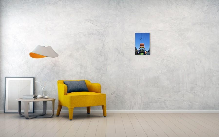 Slotzila zip line art print for wall decor