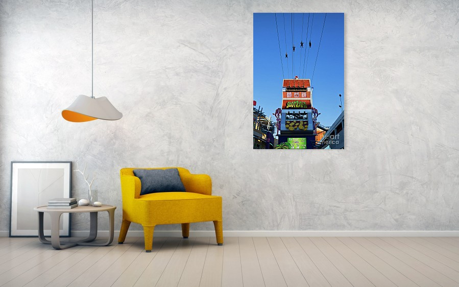 Slotzila zip line art print for wall decor