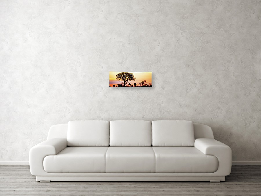 African Safari Silhouette Banner Acrylic Print