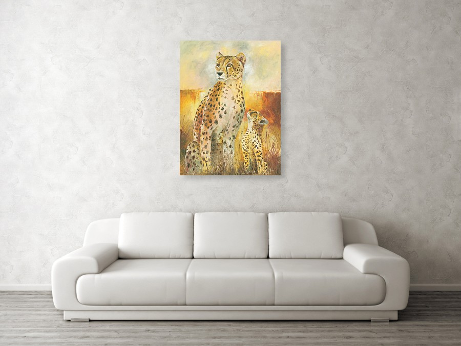 Cheetah cub art prints