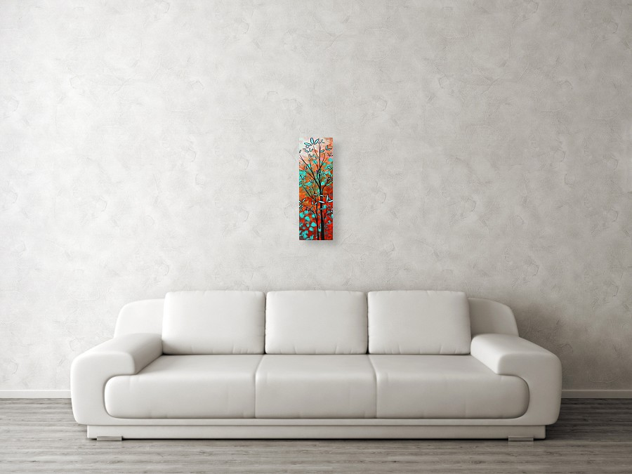 e5ac6c387a2871 Art Canvas Print featuring the painting Lilly Pulitzer Inspired Abstract  Art Colorful Original Painting Spring Blossoms. Wall View 001. Wall View  002. Wall ...
