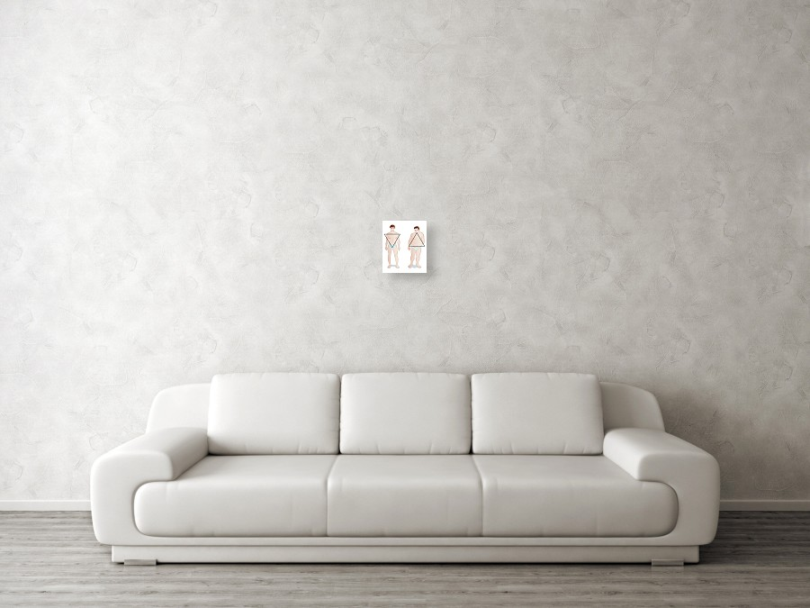 ab4fe396b7 Nobody Canvas Print featuring the photograph Male Body Shapes by Jeanette  Engqvist. Wall View 001. Wall View 002. Wall View 003
