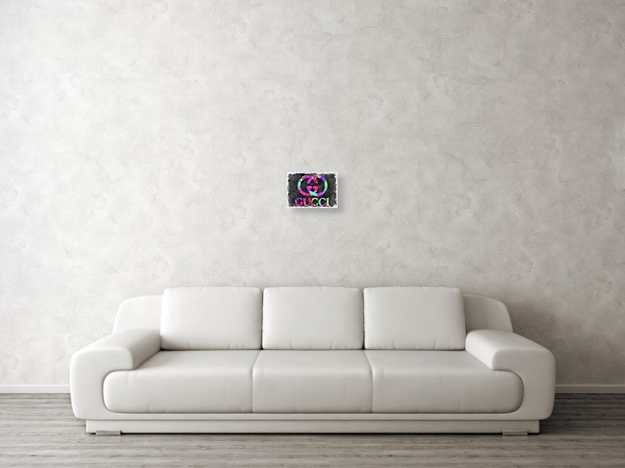 d80386f3bb78 Abstract Gucci Logo Watercolor Canvas Print / Canvas Art by Ricky ...