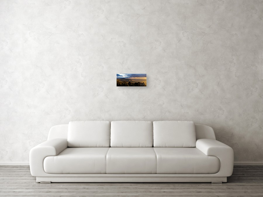 Sunset Monsoon Over Albuquerque Canvas Print Canvas Art