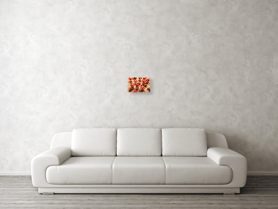 Wooden Bugs And Plastic Toadstools Canvas Print / Canvas Art by ...