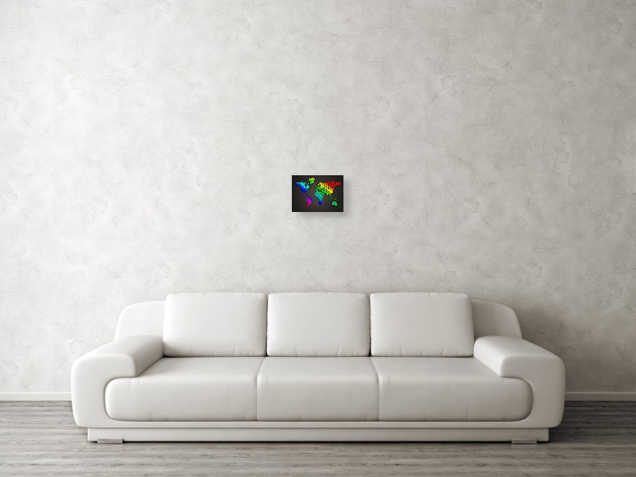 World map in words canvas print canvas art by michael tompsett wall view 003 gumiabroncs Gallery