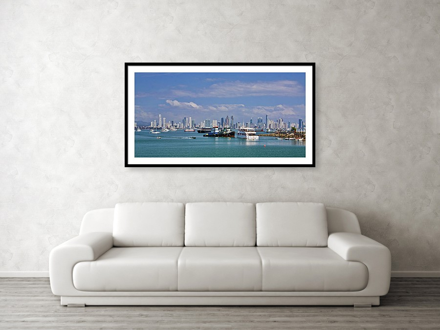Panama City Panama Skyline framed print by Tatiana Travelways. Bring your print to life with hundreds of different frame and mat combinations.