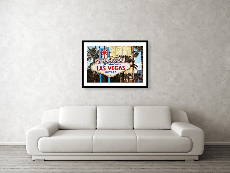 Las Vegas welcome sign, art print by Tatiana Travelways